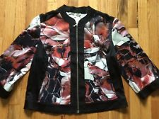 """Women's multicolored floral Carlucci """"Beehive"""" jacket size 12"""