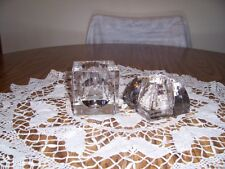 O. CASSINI TWO MODERN CRYSTAL CANDLE VOTIVES