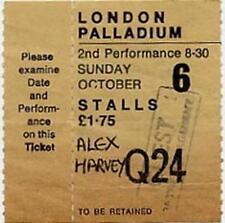 Alex Harvey UK concert ticket London 1974