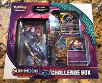 Pokemon Sun & Moon Guardians Rising GX Challenge Box Lunala New Factory Sealed