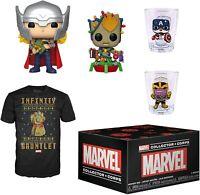 Funko Marvel Collector Corps Thor Baby Groot 535 536 Pop! Vinyl Tshirt - Xmas