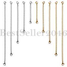 10Pcs Edelstahl Kette Verlängerung Armband Halskette Extender Set Schmuck