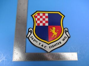 """Vintage 363rd T A C Fighter WG Large Military Sticker and Decal 6"""" X 5.5""""  S8239"""