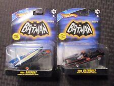 2008 Hot Wheels BATMAN 1966 Batmobile & Batboat MOC C-7/7.5 LOT of 2