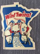 MINNESOTA TWINS BASEBALL TEAM ISSUED STICKER  DECAL VINTAGE 1960'S  MINT