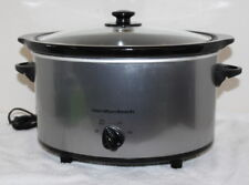Vintage Hamilton Beach 33550 SC10 Crock Pot Slow Cooker w/ Original Glass Lid