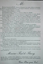 PAUL DE BUSSY Pelet Lautrec Beard Dezert FAIRE PART Luxoliere Bellusiere 1902