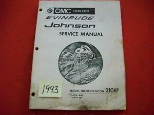 VINTAGE 1969 OMC STERN DRIVE 210 HP TUFR-69, TUFM-69 SERVICE MANUAL # 384082