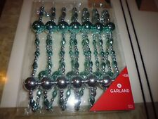 NEW ! Christmas Holiday Decoration 12 FTGarland Blue and Silver Color