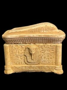 BEAUTIFUL ANCIENT EGYPTIAN JEWELLERY BOX WITH HIEROGLYPHICS 300 BC (2)