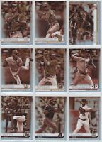 2019 Topps Chrome Baseball Sepia Refractor You Pick the Card Finish Your Set