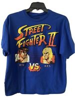 Nouveau Gel Street Fighter Ryu Vs Ken Hommes Adultes T-SHIRT bleu 18-ffsj 002 US Vendeur