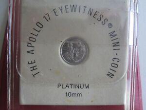 APOLLO 17 SOLID PLATINUM MINI-COIN