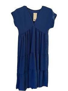 Blue Ladies Dress One Size
