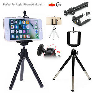 Mini Tripod Mobile Camera Stand Holder Adapter Clip Bracket For All Apple iPhone