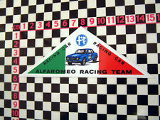 1970's etiqueta de equipo de Alfa Romeo Junior Giulietta Spider Lancia Fulvia Gtv Gta