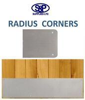 KICK PLATE SATIN STAINLESS STEEL DOOR PLATE RADIUS CORNERS DRILLED & CSK & SCRS