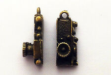 Steampunk Camera charm Pack of 10, 14mm x 6mm