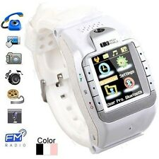 """Touch Screen Watch Mobile Phone Support Camera with 1.3"""" Inch Display & Quadband"""