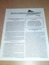 NY REVIEW OF SCI-FI - SF IN THE THEATRE - March 1989 #7