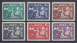 Portugal Sc 683-688 MNH. 1947 Conquest of Lisbon, complete set, VF