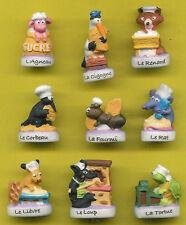 FEVES  ANIMAUX DE LA FONTAINE AU FOURNIL série complète ..ref.B27