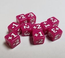 10x Pink Micro CCG Stats Modifier Dice for Games Like Magic: The Gathering 10mm