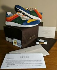 Gucci Suede Lace-Up Low Multi-Color Sneakers Colorblock size G09 336615CKKN04262