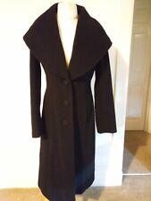 WALLIS Womens Wool Cashmere Coat size 10 Black jacket nice condition