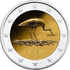 2 EURO LETTONIE 2015 UNC LA CIGOGNE