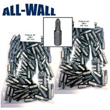 Grabber #2 Reduced Phillips Drywall Screw Driver Bit Tips, No-Slip, 200-Pack