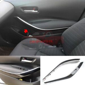 For Toyota 2020-2021 Corolla Replace Black & Silver Front Door Armrest Trim