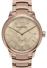 NWT $995 Burberry The Classic Round Bracelet Watch, 40mm - Rose Gold - BU10013