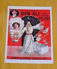 TASCHEN ~ MAGIC POSTCARD - 'BEN ALI & MISS HELENA' ca 1905 ~ CHRISTIAN FECHNER