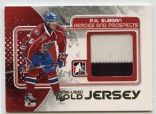 10/11 ITG HEROES & PROSPECTS GAME-USED JERSEY GOLD PK SUBBAN BULLS *43150