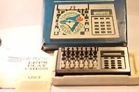 RARE VINTAGE CHESS COMPUTER ACETRONIC & SCISYS  MADE IN HONG KONG 1980'S
