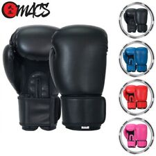 MACS Leather Boxing Glove Thai Training Punching Bag Sparring Gloves Mesh Vent