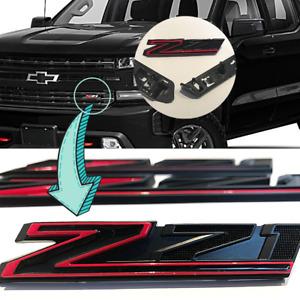 Chevrolet Silverado 2019-2021 Z71 Grille Emblem Gloss Red Black 84384428 OEM