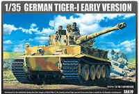 [ACADEMY] GERMAN TIGER-I EARLY VERSION #13239 Plastic model set  1/35 Scale