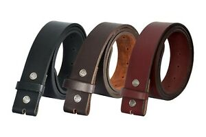 Mens Real Leather Belt Strap Without Buckle Genuine Leather Belt For Jeans