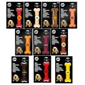 TastyBone Large Dog Strong Nylon Chew Bone Toy Nylabone Style, Treat Flavours UK