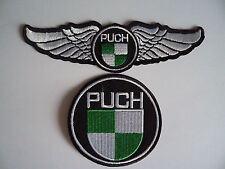 2 Puch Maxi Motorcycle Moped Patches Iron / Sew On Patch Mechanic Overalls