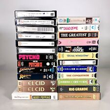 Mix Lot of 25 BETA Betamax Movies John Wayne Psycho Indiana Jones El Cid