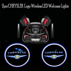 2pcs WIRELESS LED Light Ghost Shadow Projector Car Door Logo Laser for Chrysler