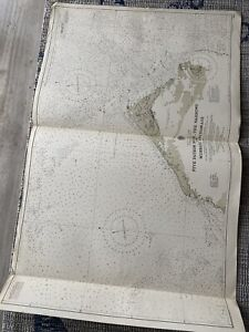 Orig Nautical Chart Map Bermuda 5 Fathom Hole Narrows, Murray Anch Issued 1940