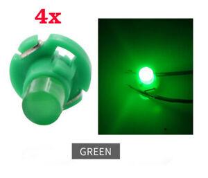 4Pcs T4.2 LED Bulbs Light 12V COB Dashboard Switch Cluster Warning Green Colour