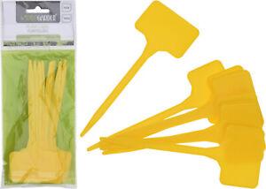 10 pezzi Etichette Cartellini in plastica per semi Fiori Piante Orto Giallo