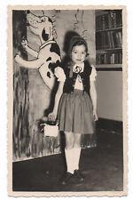 PHOTO ANCIENNE Déguisement Fille Déguisée Le Petit Chaperon Rouge 1957 Panier