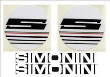Adesivi serbatoio Simonini bianchi  anni '70 4 pezzi