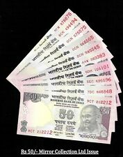 Rs 50/- India Banknote Semi SOLID TELESCOPE Ltd Issue MIRROR x 10 Notes GEM UNC